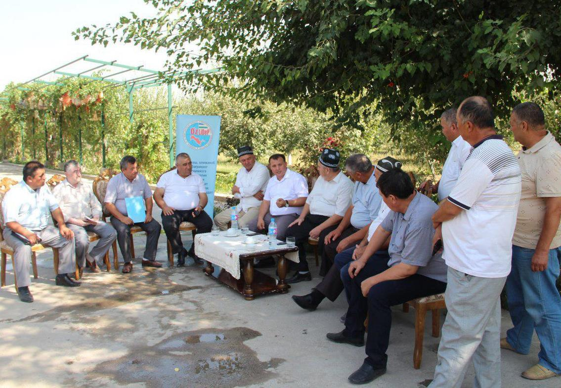 Head of UzLiDeP met with entrepreneurs and farmers of Kitab district