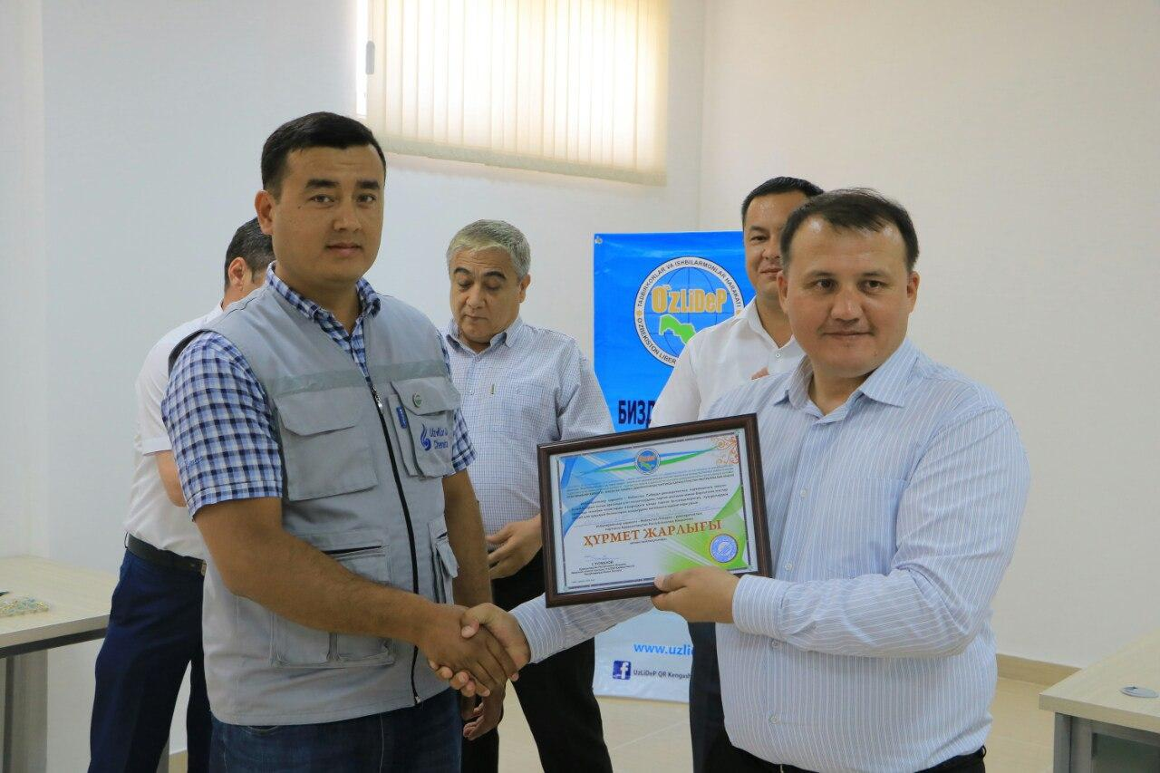 UzLiDeP representatives got acquainted with business entities in Kanlykul, Kungrad and Muynak districts