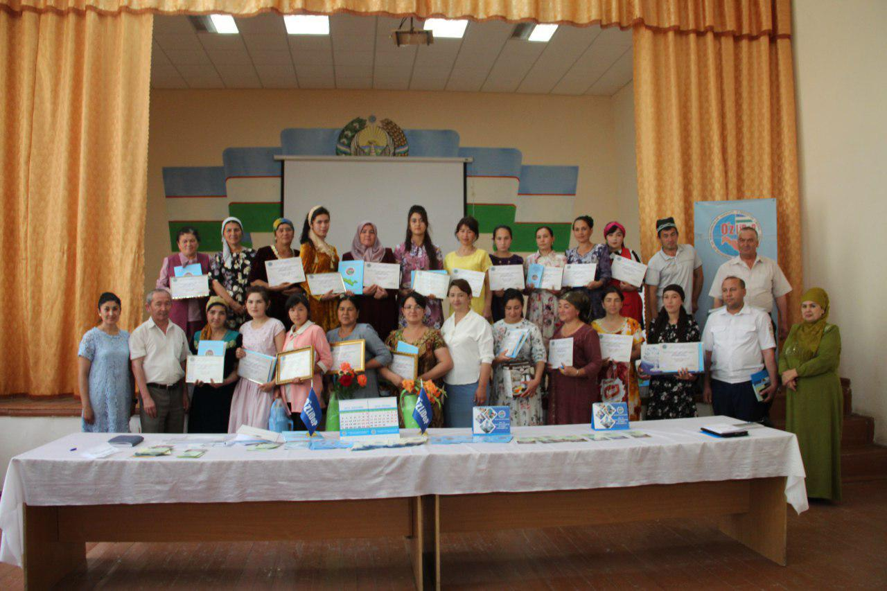 "20 women become winners of Urgut district stage competition ""Ishbilarmon ayol"""